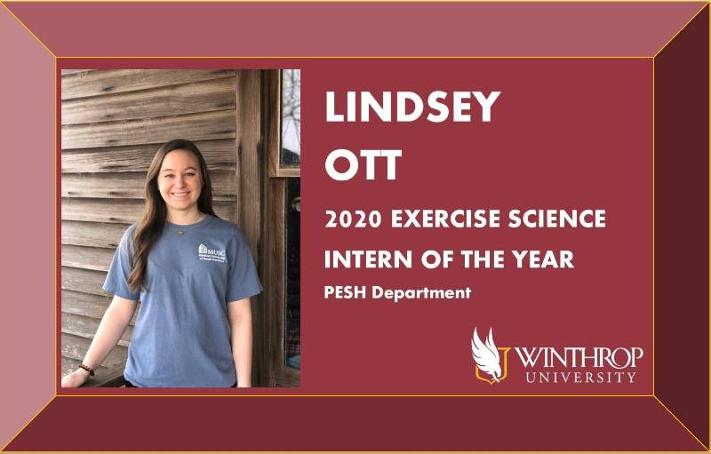 Lindsey Ott - EXSC Intern of the Year