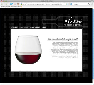 Portfolio - Jessica Manner - Wine Website